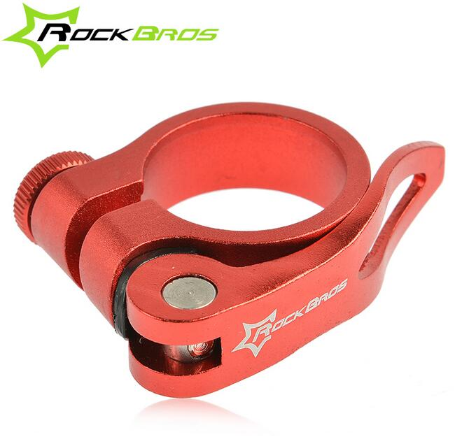 US 34.9mm Road Bike Seat Post Clamp Seatpost MTB Clamps Collar Quick Release