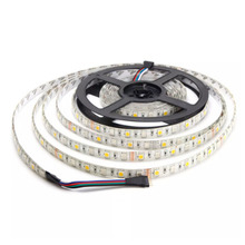 5M Led Strip Waterproof RGBW RGBWW SMD 5050 LED Flexible Light for Christmas Decor DC12V 60leds /m strip light