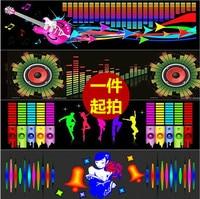 90*25cm sticker equalizer car styling neon light music Rhythm Flash led car Sound control Rear glass LED flash lamp