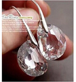 EY659 Transparent white crystal earrings peas lover tears crystal bead earrings Jewelry Christmas gifts