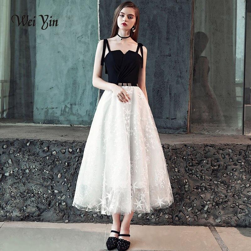 weiyin Vestido Longo De Festa Elegant Black A-Line V-Neck Long Sleeveless   Evening     Dress   2018 Party Gowns WY804