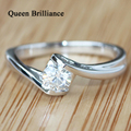 Mais Baratos 18K Echtes Gold Cchmuck White Gold SI2 0.3 Ct Moissanite H Color Diamond-Jewelry For Gift
