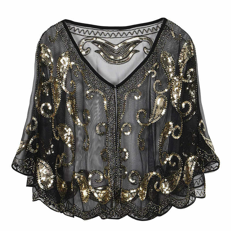 96151f05e6 Ladies Shawl Wraps Sequin Evening Dress Women Beach Cover-up Sunscreen  Small Shawl Coat Summer