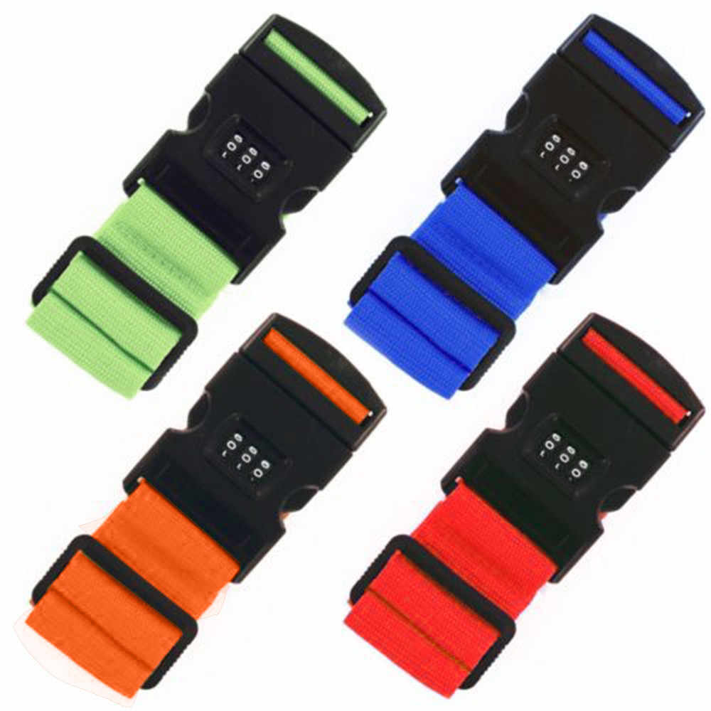 5 colors Adjustable Safety Belt Three Digit Combination Lock for Travel Luggage Suitcase Band Packing Blet Strap Accessories #P
