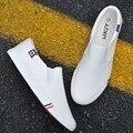 Mais Sizse dos homens Venda Quente Sapatos de Plataforma 2016 Sapatas de Lona Respirável Homens Casual Bandeira Branca Formadores Sapato Zapatos Hombre