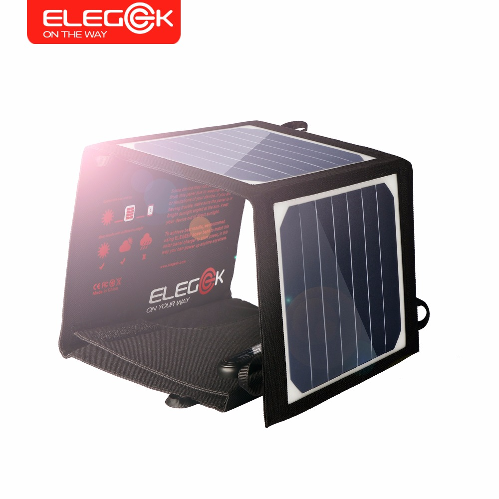 ELEGEEK 14W 5V Portable Solar Panel Charger USB Solar Power Battery Charger SUNPOWER High Efficiency Solar Charger for iPhone diy 5v 2a voltage regulator junction box solar panel charger special kit