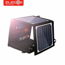 ELEGEEK 14W 5V Portable Solar Panel Charger USB Solar Power Battery Charger SUNPOWER High Efficiency Solar Charger for iPhone