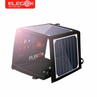 ELEGEEK 14W Highly Portable Solar Panel Charger SUNPOWER High Efficiency Foldable Solar Charger For Smart Phone