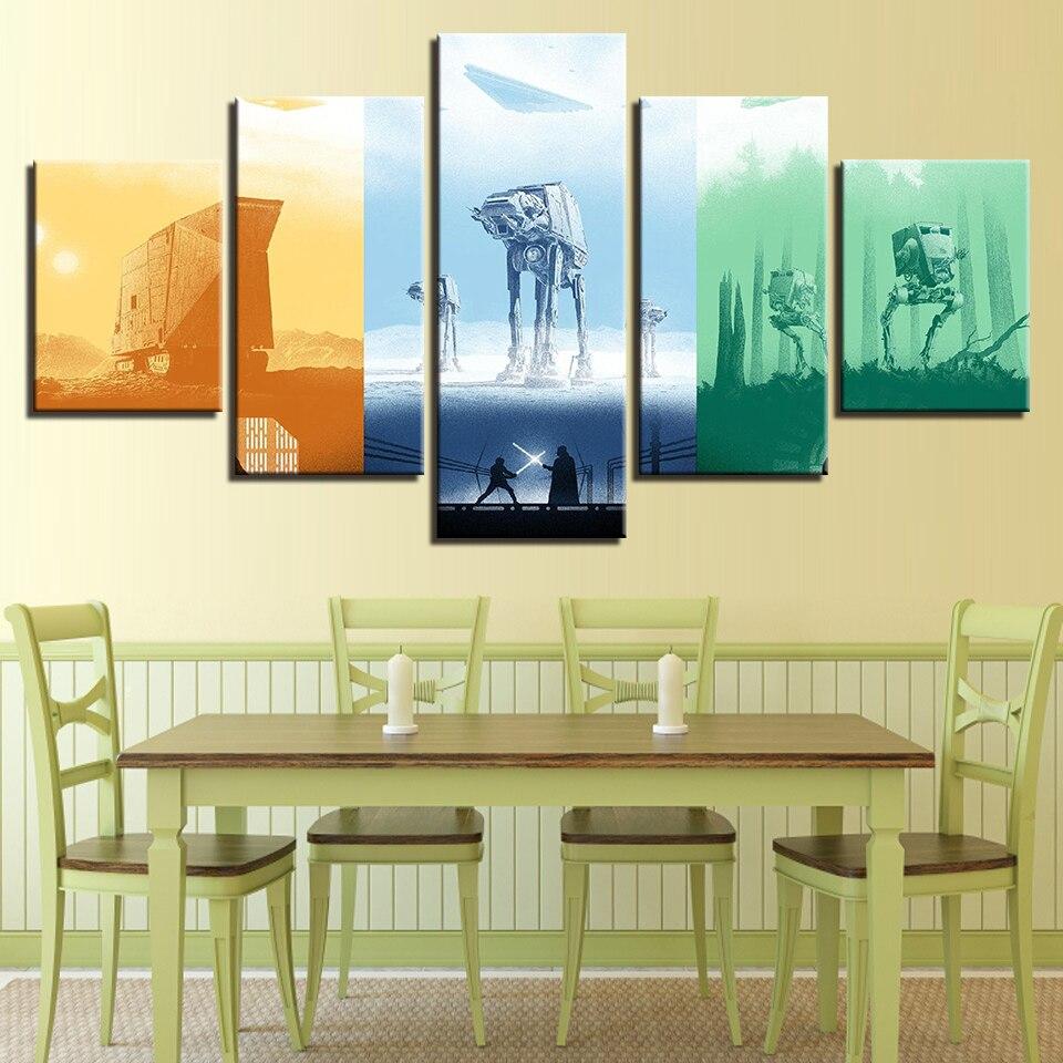 Modular Home Decoration HD Art Painting Wall Poster Printed 5 Panel ...