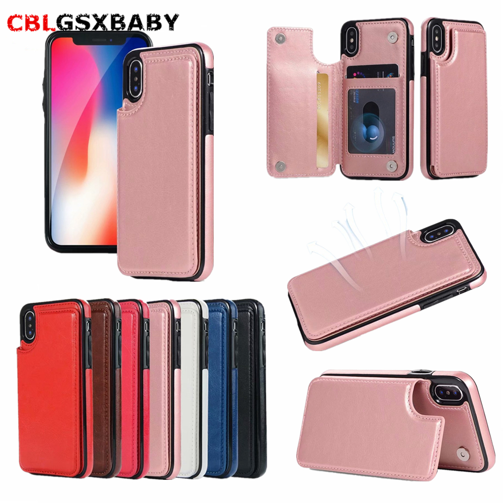 Cbl Case For Iphone Xs Xsmax Xr Retro Flip Leather Wallet