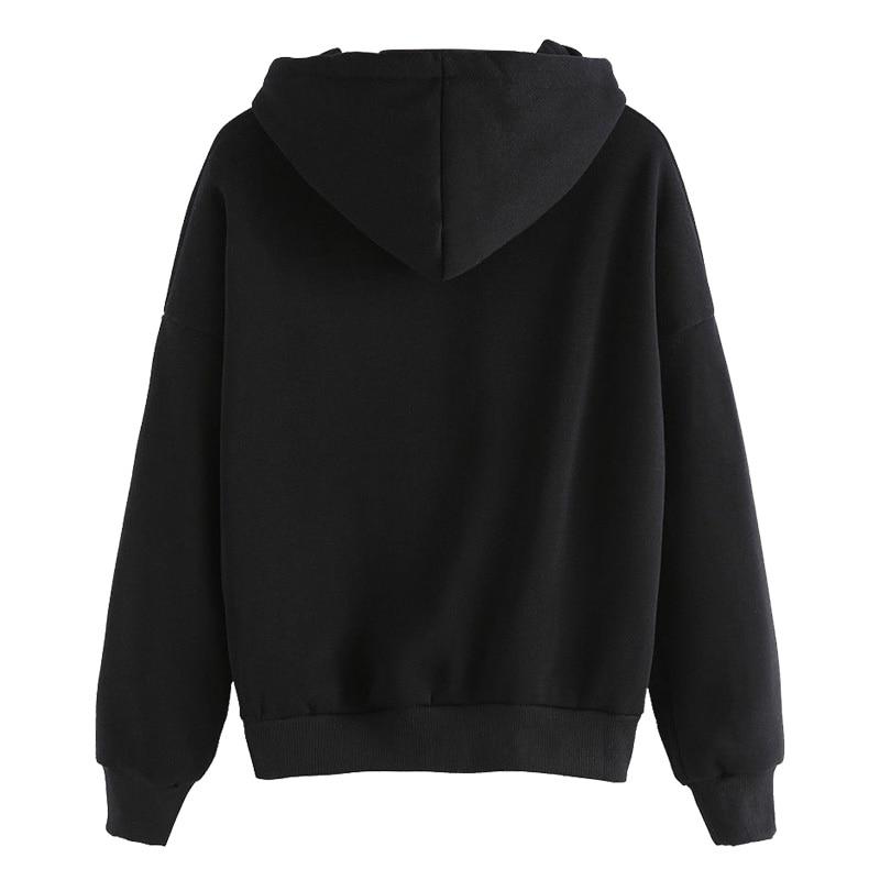 Harajuku Women's Sweatshirt and Hoody Ladies Oversize K Pop Tracksuit Pink Love Heart Finger Hood Casual Hoodies for Women Girls 8