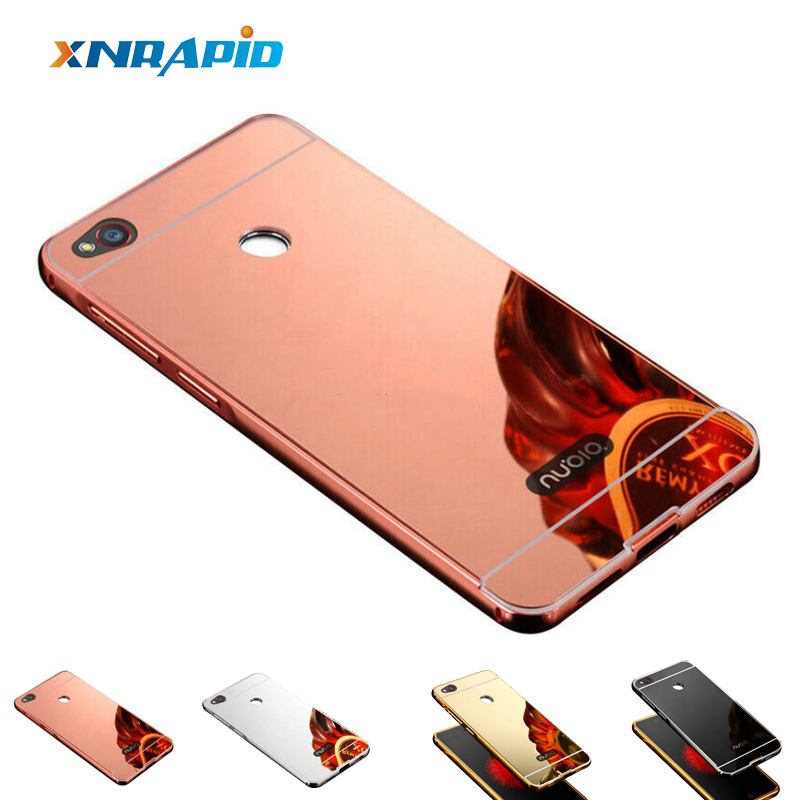 Case For ZTE Blade A510 A610 A520 A601 A910 X3 A1 A2 V7 Lite X 3 V8 Metal Aluminum + With Mirror Back Cover Phone Cases