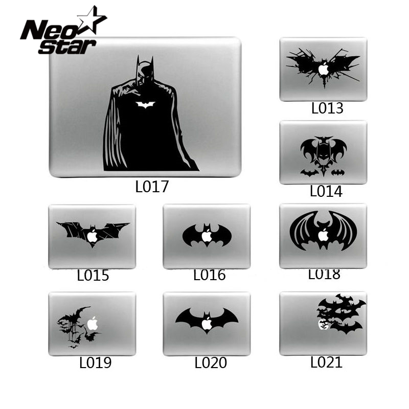 Cool Laptop Sticker Batman Vinyl Decal laptop Sticker for Apple Macbook Pro Air 13 11 15 Cartoon laptop Skin shell for Mac book ...