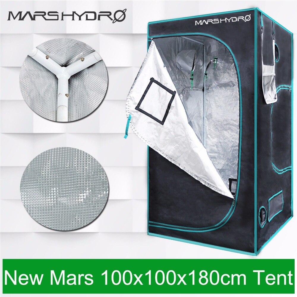 Mars Hydro Réfléchissant Mylar Grandir Tente 1680D 100x100x180 cm Tente de Plus En Plus pour les Plantes, kit de culture (39 ''x 39'' x 70 '')