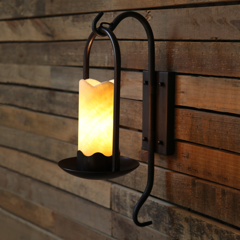 Led Lamps Useful American Country Candle Wall Lamp Retro Living Room Hotel Bedroom Wall Light Creative Stairs Aisle Iron Wall Sconce Bra Moderate Price