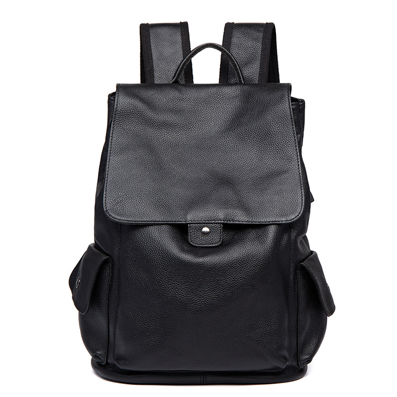 New Men's Leather Shoulder Bag Korean Fashion Computer Bag Leather Men's Business Backpack Travel Backpack Leather Backpack jiguoor 8858 220v 650w portable led bga rework solder station hot air blower heat gun