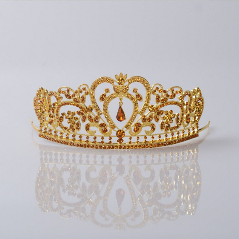 HTB1FRA0JpXXXXbxXpXXq6xXFXXXi Glamorous Wedding Pageant Prom Rhinestone Crystal Crown For Women - 5 Colors