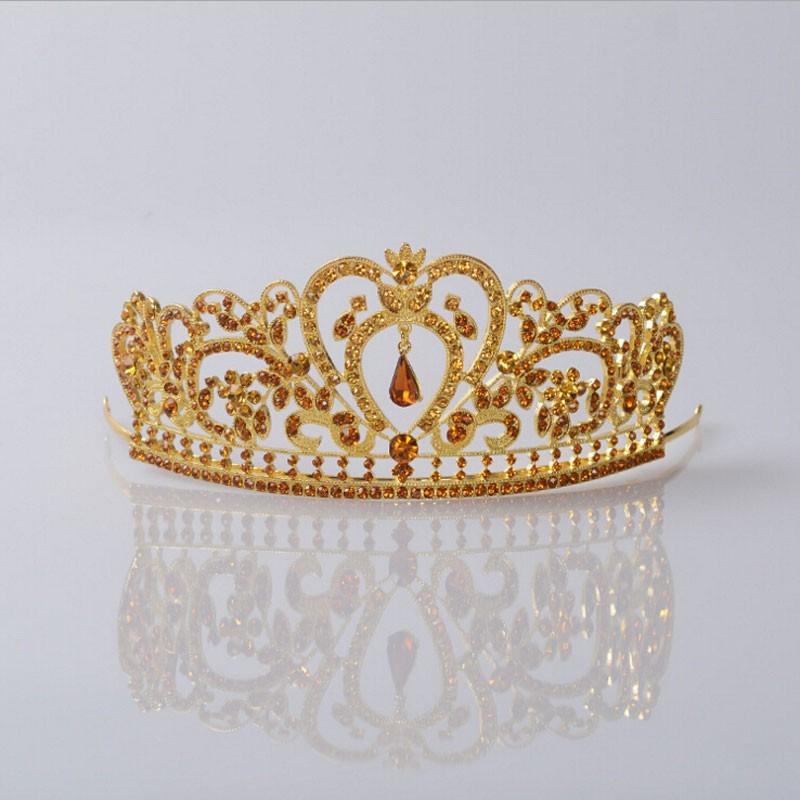 HTB1FRA0JpXXXXbxXpXXq6xXFXXXi Glamorous Wedding Pageant Prom Rhinestone Crystal Crown For Women - 5 Colors