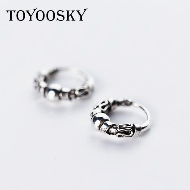 Women Fashion Pattern Clip On Earrings 925 Sterling Silver Jewelry With Ear Hole For