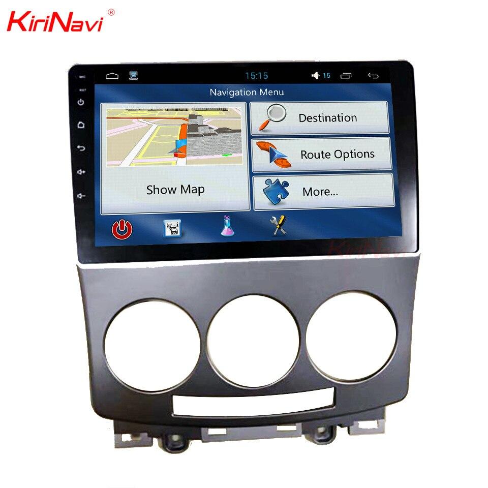 KiriNavi 9 Android 6,0 Автомобильный DVD для Mazda 5 Радио стерео аудио gps навигация мультимедийное головное устройство Bluetooth wifi RDS