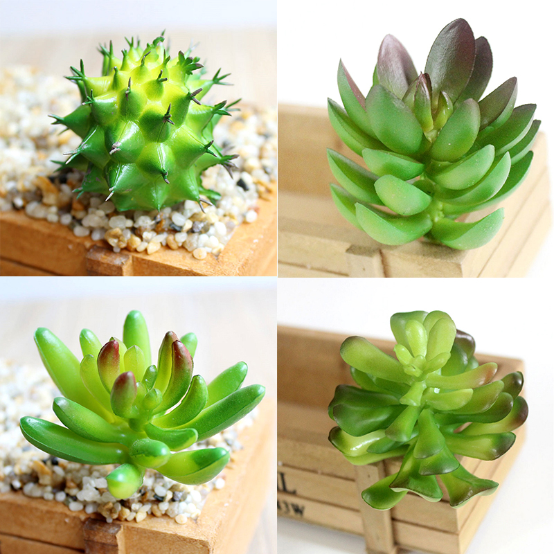 1pc New Diverse Miniature Succulents Simulation Mini Diy Plastic Office Decor Garden Home Delicate Refreshing And Beneficial To The Eyes Home & Garden