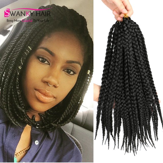 14inch synthetic Crochet hair Extensions Braiding Hair with Crochet ...