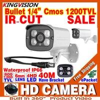 2017HOT 1 3cmos 1200TVL Waterproof IP66 Outdoor Security Hd Color Cctv Analog Camera IRCUT Infrared Night