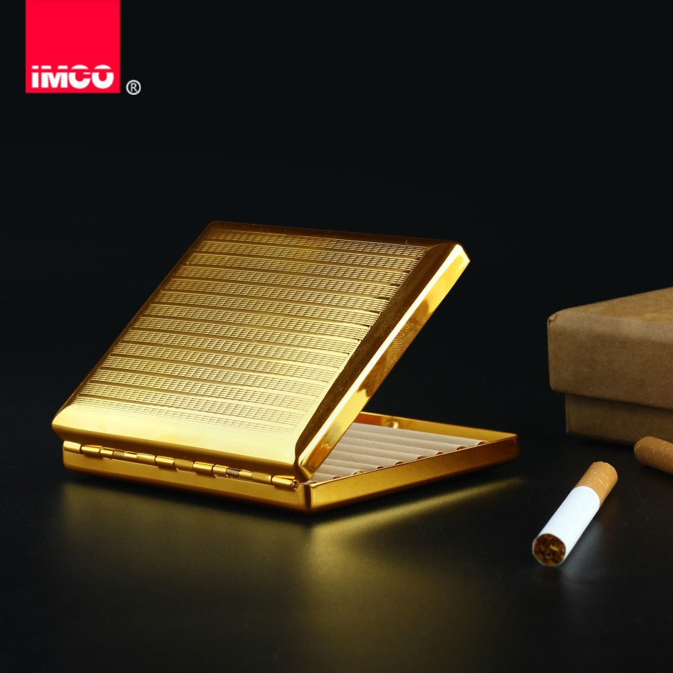 IMCO Original Cigarette Case Cigar Box Pure Copper Tobacco Holder Pocket Storage Container Smoking Cigarette Accessories in Cigarette Accessories from Home Garden