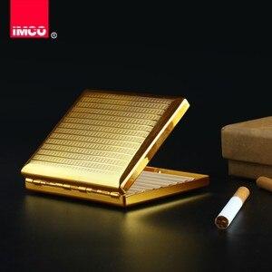 Image 3 - Imco original cigarro caixa de charuto titular tabaco de cobre puro bolso armazenamento recipiente fumar cigarro acessórios