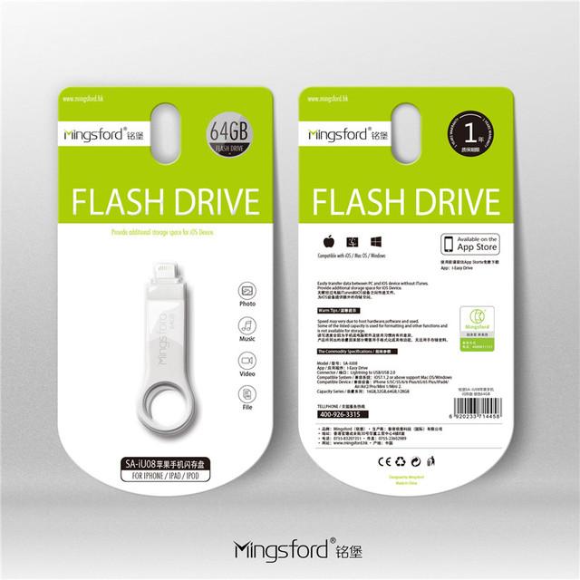Mingsford para iphone 7 7 s plus 6 6 s ipad pen drive hd cartão de memória dual purpose móvel otg micro usb flash drive 16 gb 32 gb 64 GB