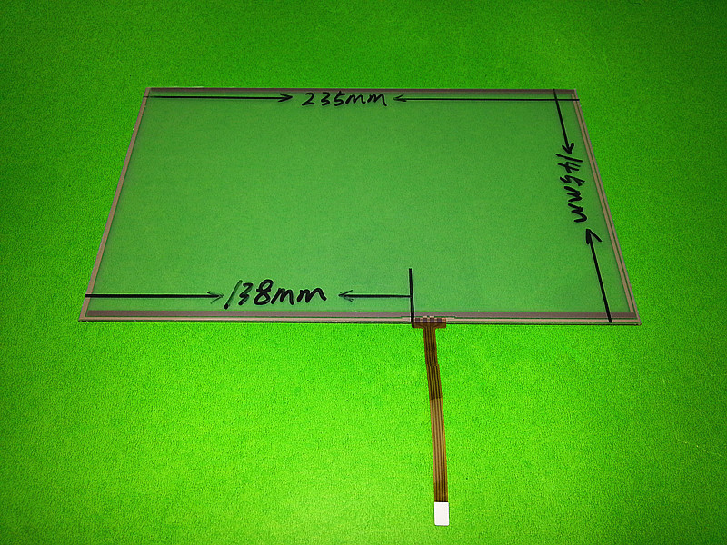 Original New 10.2 inch 4 wire Resistive Touch Screen Panel 235x145mm 235*145mm Touch screen digitizer panel free shipping amt 146 115 4 wire resistive touch screen ito 6 4 touch 4 line board touch glass amt9525 wide temperature touch screen