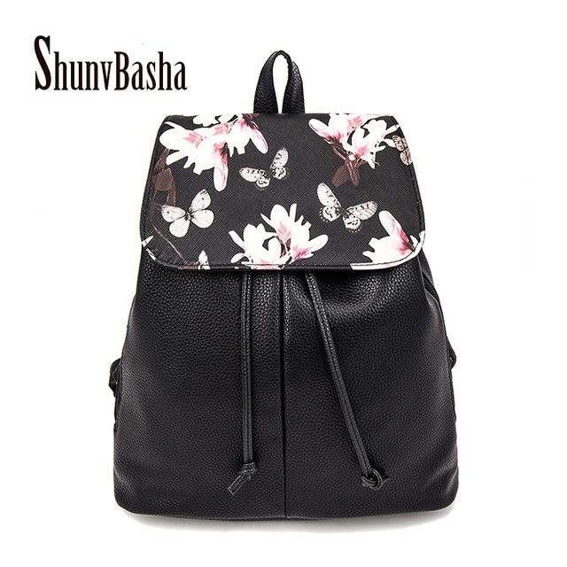 Leather Girl Backpack School Bag For Teenage Small Rivet Top-handle Women Bag Mochila Escolar Feminina Herald Fashion New