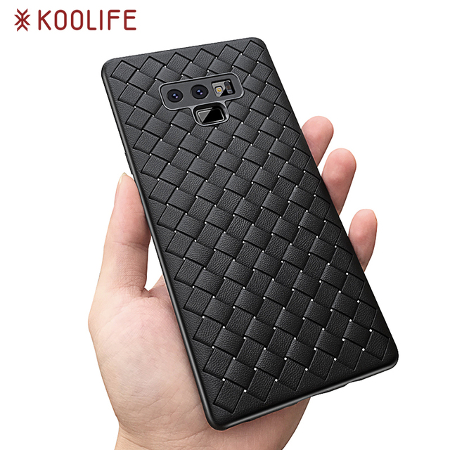 cheap for discount 61bc1 05640 US $1.99 |Koolife Soft Phone Case For Samsung Galaxy note 9 Luxury Grid  Weaving Case For Samsung note 9 Cover Silicone Phone Accessories -in Fitted  ...