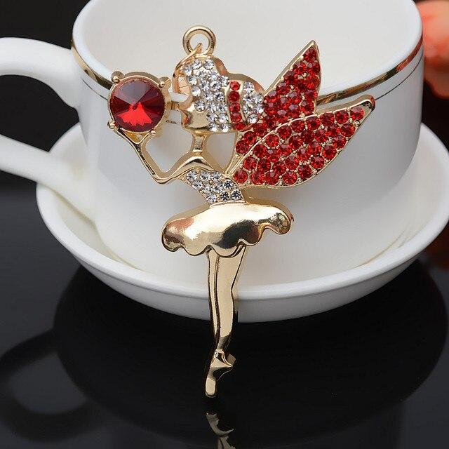 Felyskep חדש סגנון יפה בלט בלרינת רקדנית ילדה מזכרות Keychain ארנק עבור Wome תליון 274WA