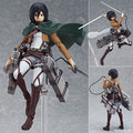 Anime Attack on Tita Mikasa Ackerman figma 203 PVC Action Figure Collection Model Toy 2 Face