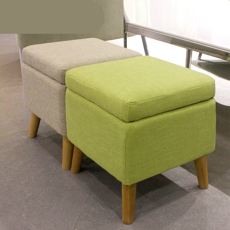Household Solid Wood Change Shoe Bench Cloth Seat Multifunction Sofa Stool Washable Wooden Storage Stool Stable Dressing Stool xxxg short board stool for shoes for children and adults with small cloth wood chair sofa stool small wooden bench cloth art