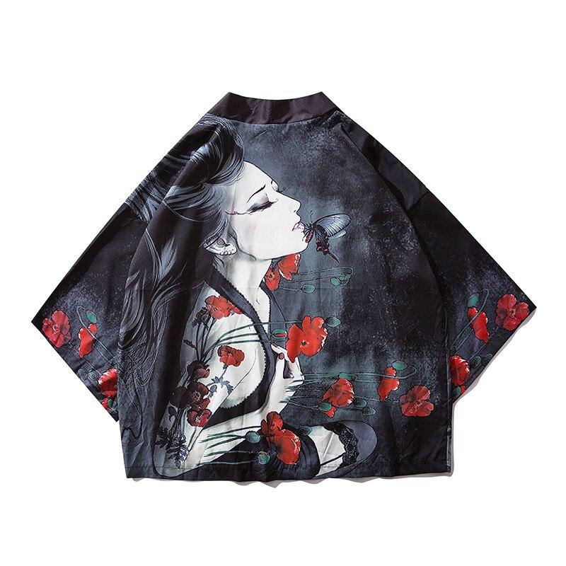 2019 Chinese Style Men Long Coat Wind Breaker Black Men Japanese Streetwear Kimono Jackets Men