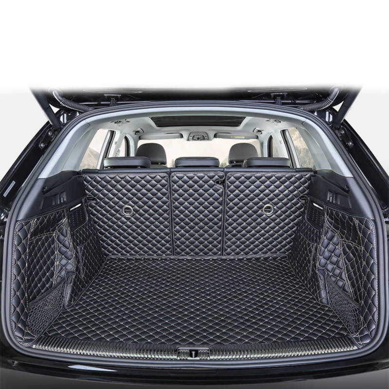 Car Styling For Audi Q5 Q5L 2018 2019 Car Boot Mat Rear Trunk Liner Cargo Floor Carpet Tray Protector Accessories Dog Pet Covers aputure amaran hn100 cri 95 halo ring 6w 1020lm 5500k 100 led flash lamp for nikon cameras black