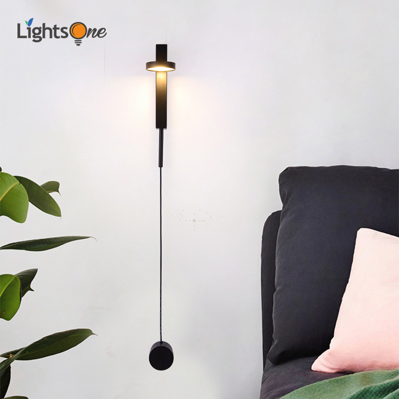 Nordic modern wall light luxury dimmable switch simple living room aisle corridor bedroom creative personality bedside