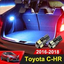 1×12 В T10 светодио дный лампы Чемодан лампы Интерьер Купол Light багажнике автомобиля отсек свет для Toyota C-HR CHR 2016 2017 2018 аксессуары