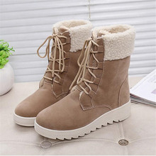 New Mid-Calf Women Boots Fashion Winter Snow Boots Woman Warm Winter Boots Fur Botas Slip-On Sewing Casual Women's Shoes s89