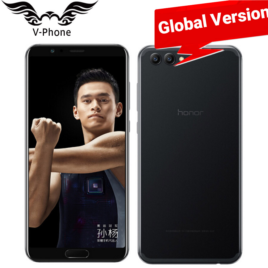Global Version Honor V10 SmartPhone L09 4G LTE Kirin 970 Octa Core 5.99 Inch 6GB 128GB 16MP 20MP 3750mAh Mobile Phone