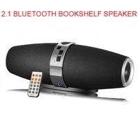2.1 Portable Bluetooth Wireless Bookshelf Speaker Subwoofer Surround Stereo Tweeter Woofer Rugby Speakers MP3 Player Black