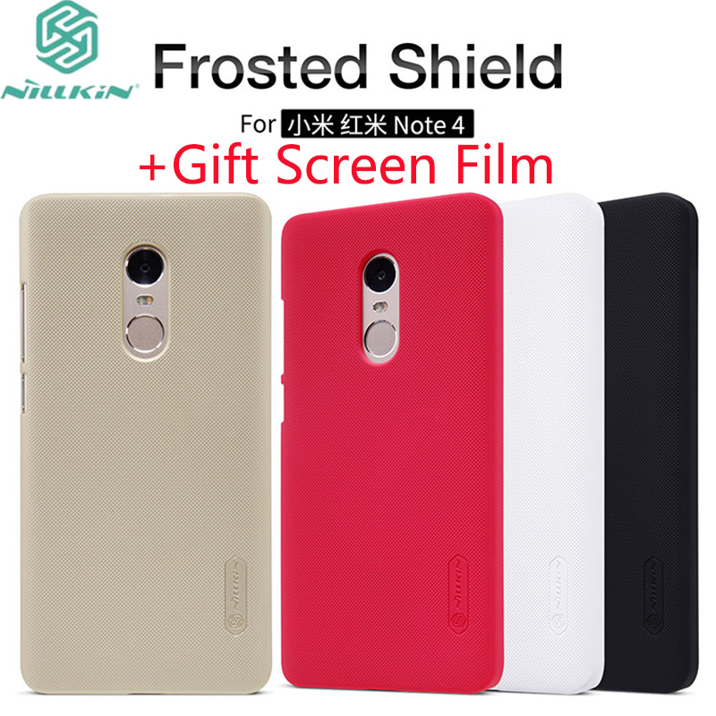 For Xiaomi Redmi Note 4 Case Nillkin Frosted Shield PC Back Cover Case For Redmi Note 4 PRO Prime 5.5 inch Gift Screen Film