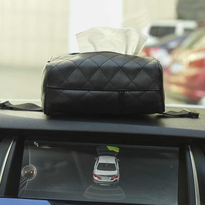 EAFC Кожаный Автомобильный тканевый ящик солнцезащитный козырек стул задний подвесной креативный бумажный держатель для автомобиля Принадлежности бумажный лоток для салфеток милый