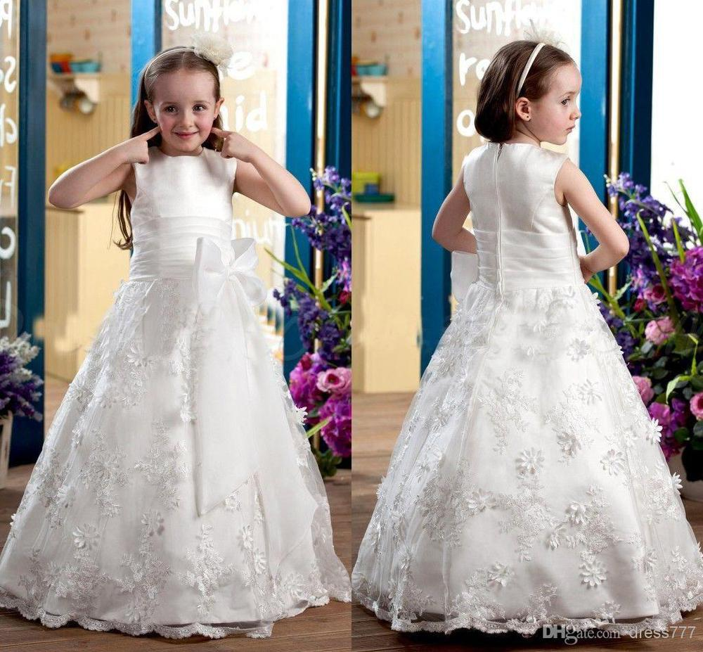 New arrival angle applique flower girl dress pageant ball for Tk maxx dresses for weddings