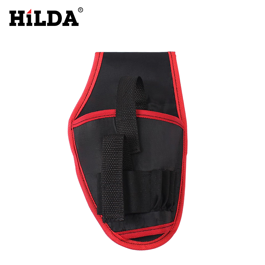 HILDA Waist Tool Bag For 12V Drill Screwdriver Portable Cordless Drill Holder Holst Tool Pouch Power Tool Accessories atc spindle tool handle bt40 er32 100 cnc bt40 taper milling chuck with 1pc bt40 x 45 degree pull stud & 1pc er32 10mm collet