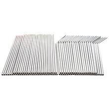 TOP!-100pcs Metal Straws Can Be Reused 304 Stainless Steel Drinking Water Pipes 215 Mm x 6 Curved And 50 Straight St
