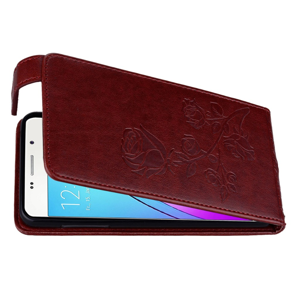 Konfurer Magnetic Flip Luxury Leather Phone Case For Samsung Galaxy A5 2016 A510 Light Weight Ultra Thin Cover Case Holster Bag