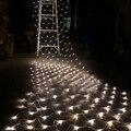 1.5 M x 1.5 M 108 LED Net Hadas de la Secuencia Luz 110 V 220 V eu us plug rgb lámpara de la decoración del banquete de boda de vacaciones de navidad al aire libre